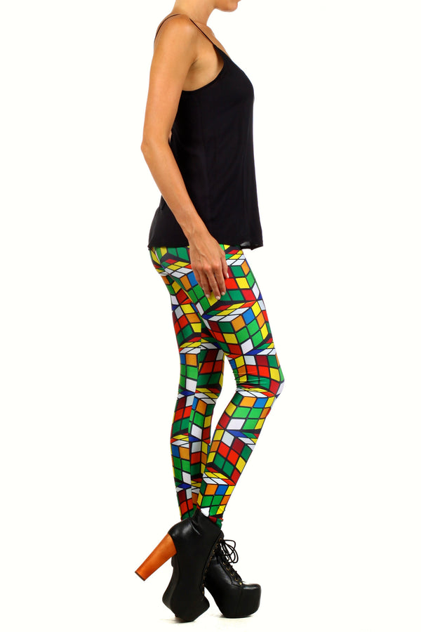 Rubix Cube Leggings - POPRAGEOUS  - 3