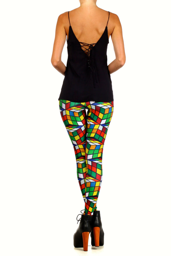 Rubix Cube Leggings - POPRAGEOUS  - 4