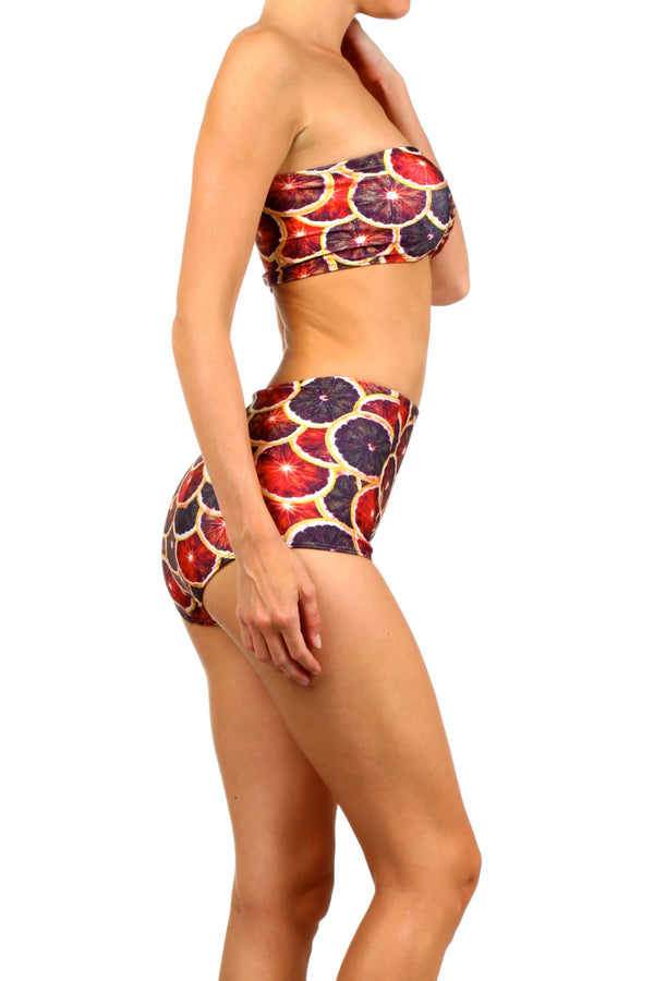 Blood Orange Two-Piece Swim - POPRAGEOUS  - 3