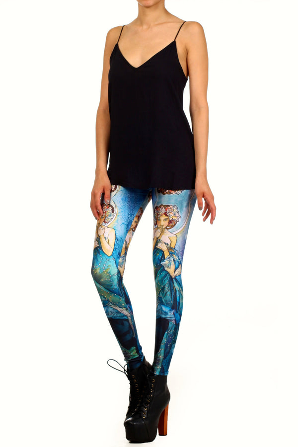 Mucha Blue Moon Leggings - POPRAGEOUS  - 2