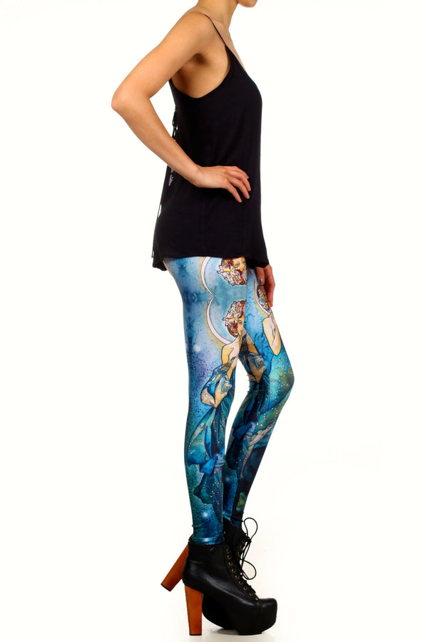 Mucha Blue Moon Leggings - POPRAGEOUS  - 3