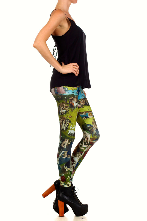 Garden of Earthly Delights Leggings - POPRAGEOUS  - 3