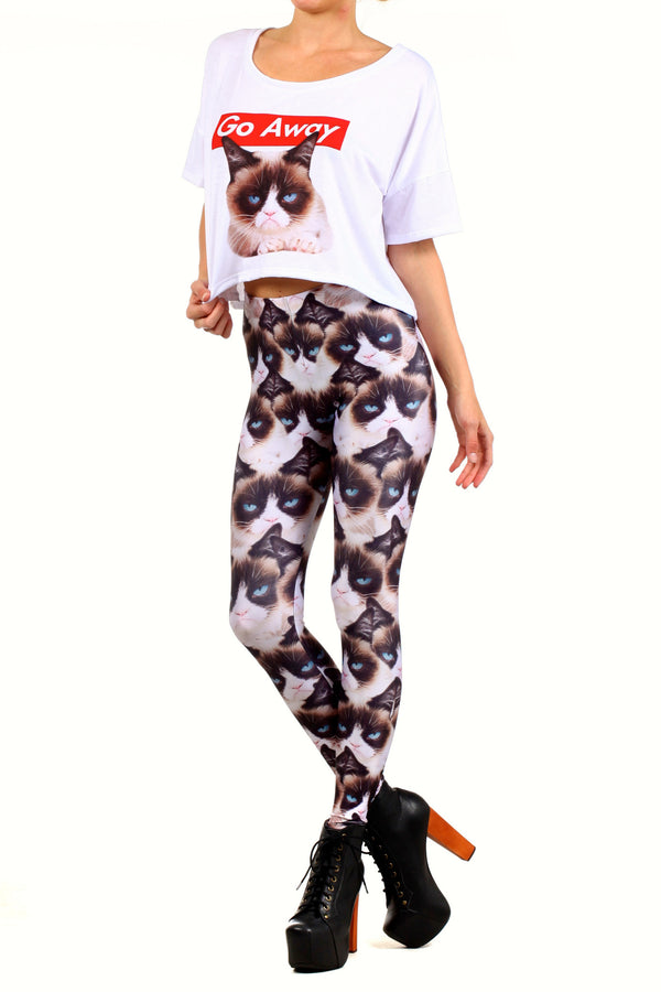 Grumpy Cat Leggings - POPRAGEOUS  - 2