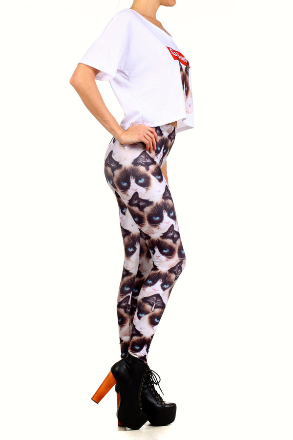 Grumpy Cat Leggings - POPRAGEOUS  - 3