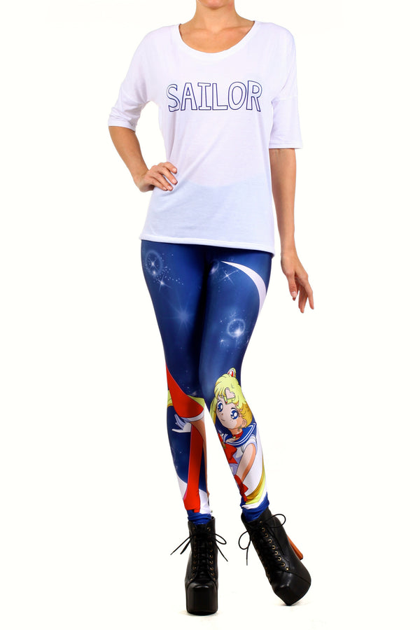 Sailor Crescent Leggings - POPRAGEOUS  - 1
