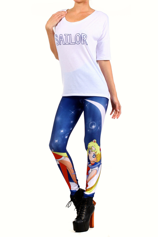 Sailor Crescent Leggings - POPRAGEOUS  - 2