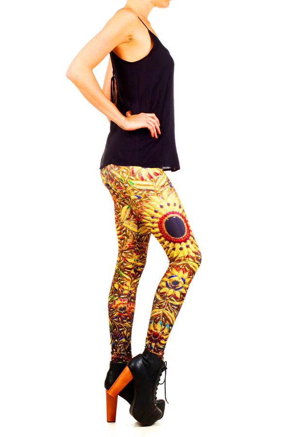 Kashmiri Jeweled Tapestry Leggings - POPRAGEOUS  - 3