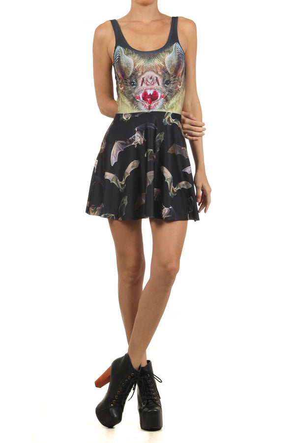 Vampire Bat Skater Dress - POPRAGEOUS  - 1
