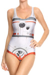 Orange Robot One Piece Swim - POPRAGEOUS  - 1