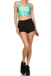 90's Crop Top - Mint - POPRAGEOUS  - 1