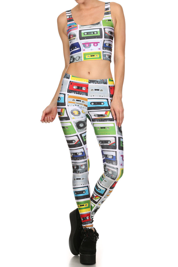 Cassette Tape Leggings - POPRAGEOUS  - 1
