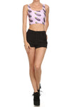 Eggplant Crop Top - POPRAGEOUS  - 1