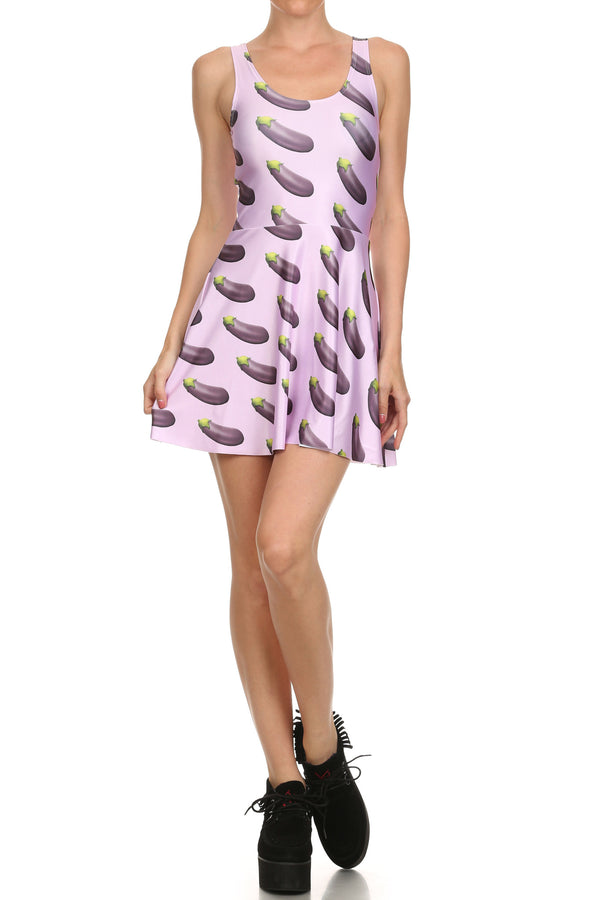 Eggplant Skater Dress - POPRAGEOUS  - 1