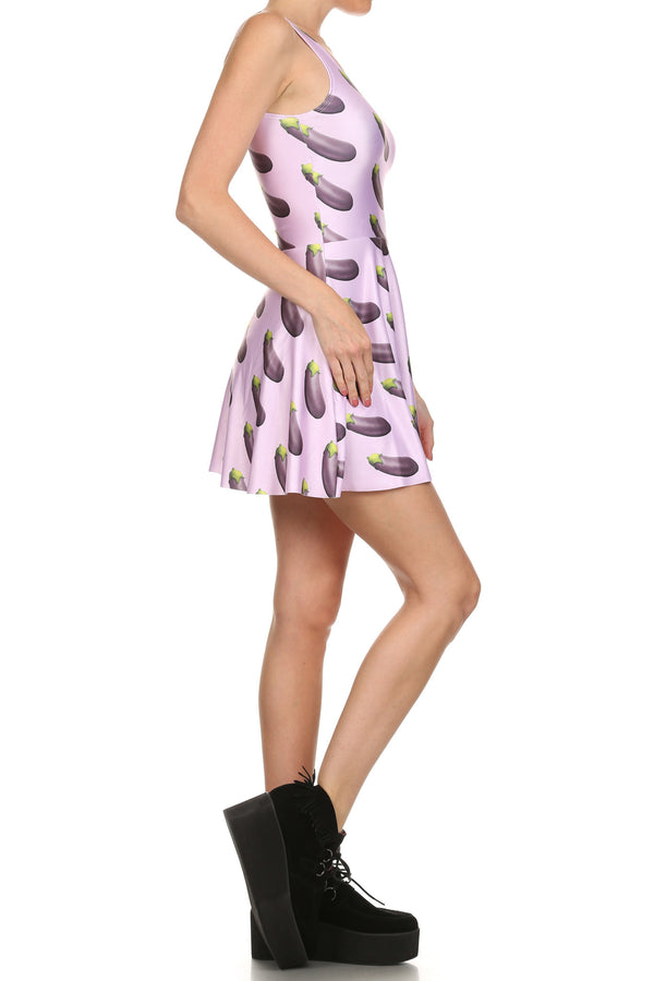 Eggplant Skater Dress - POPRAGEOUS  - 3