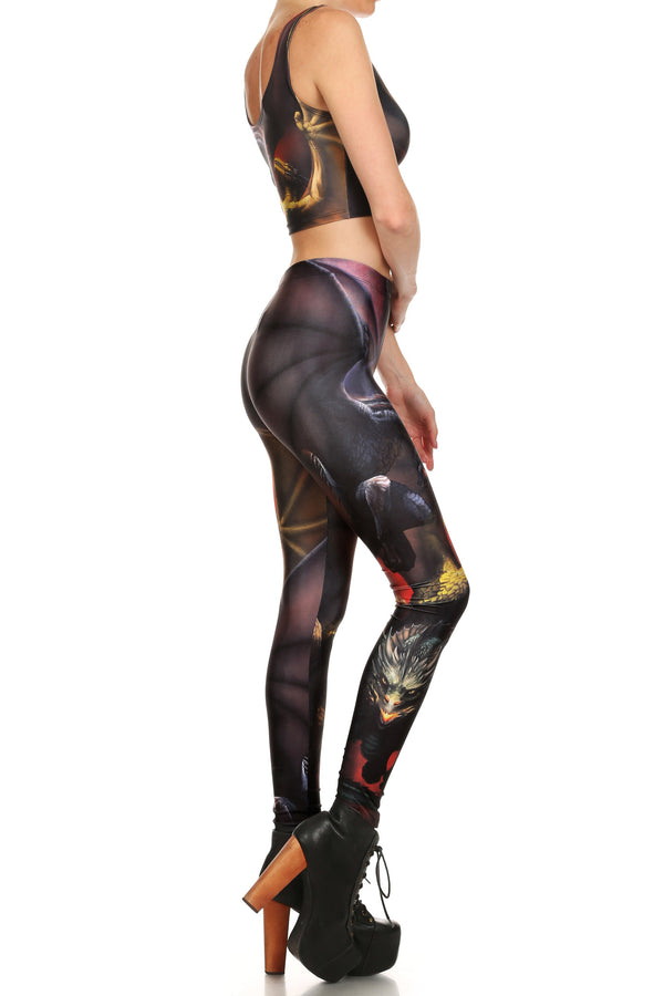 Mother's Dragons Leggings - POPRAGEOUS  - 3
