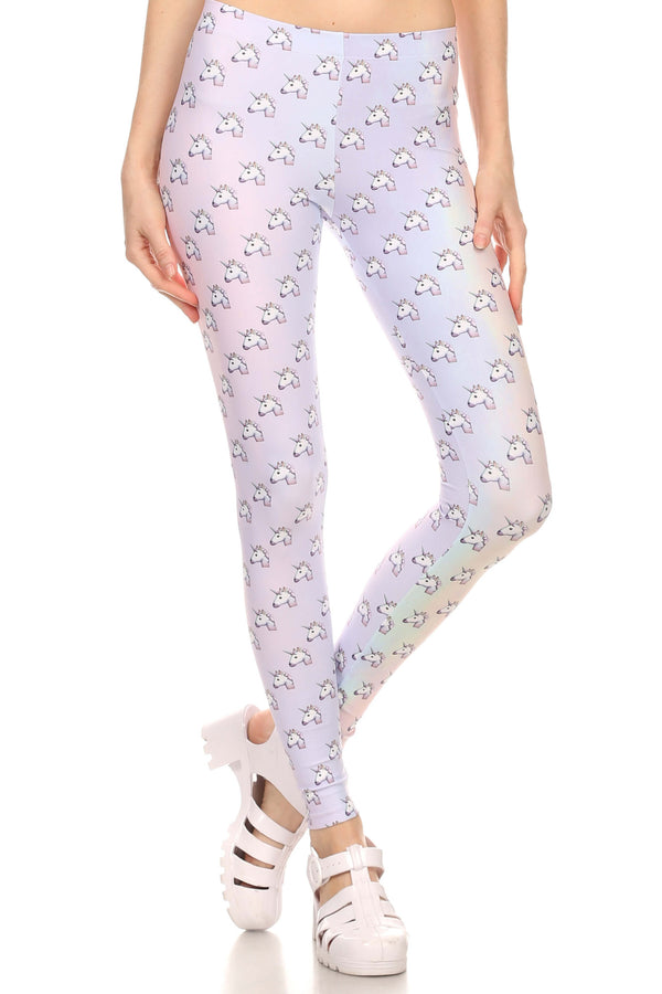 Unicorn Emoji Leggings - POPRAGEOUS  - 1