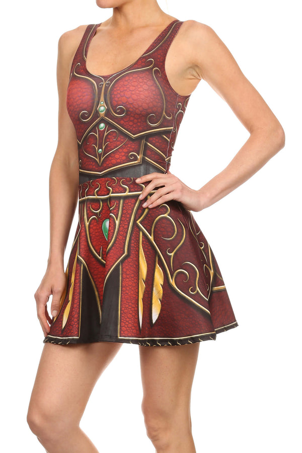 Elf Armor Skater Dress - POPRAGEOUS  - 2