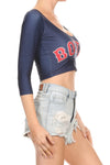 Boston Baseball Crop Top - POPRAGEOUS  - 2