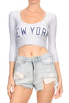New York Baseball Crop Top - POPRAGEOUS  - 1