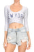 New York Baseball Crop Top