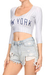 New York Baseball Crop Top - POPRAGEOUS  - 3