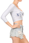 New York Baseball Crop Top - POPRAGEOUS  - 4