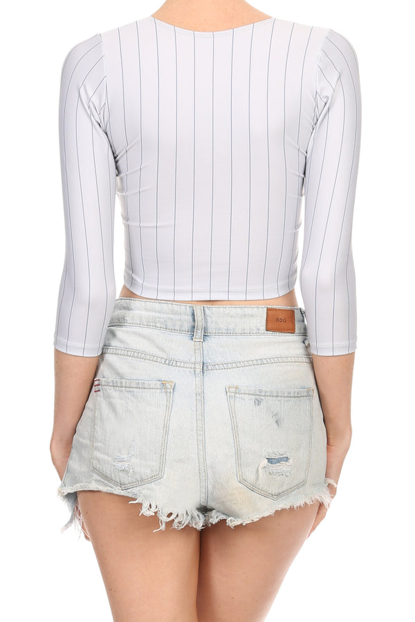 New York Baseball Crop Top - POPRAGEOUS  - 5