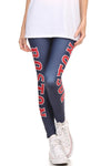 Boston Baseball Leggings - POPRAGEOUS  - 4
