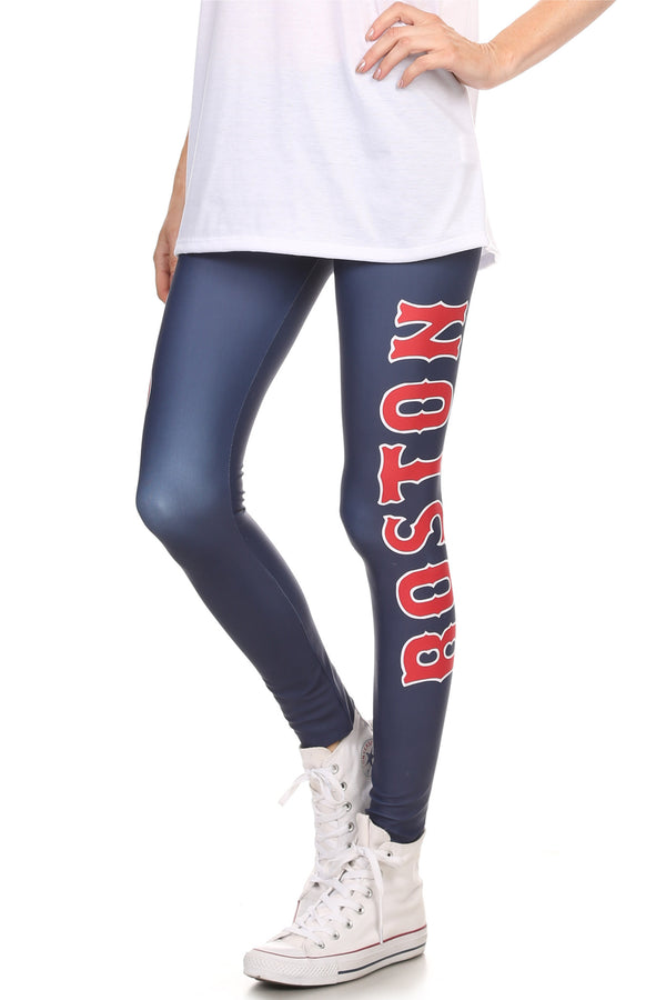 Boston Baseball Leggings - POPRAGEOUS  - 1
