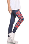 Boston Baseball Leggings - POPRAGEOUS  - 3