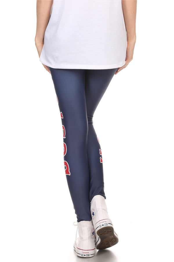 Boston Baseball Leggings - POPRAGEOUS  - 5