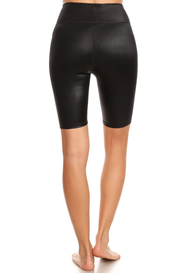 Wet Obsidian Biker Shorts