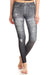 Fake Distressed Jeans - Grey