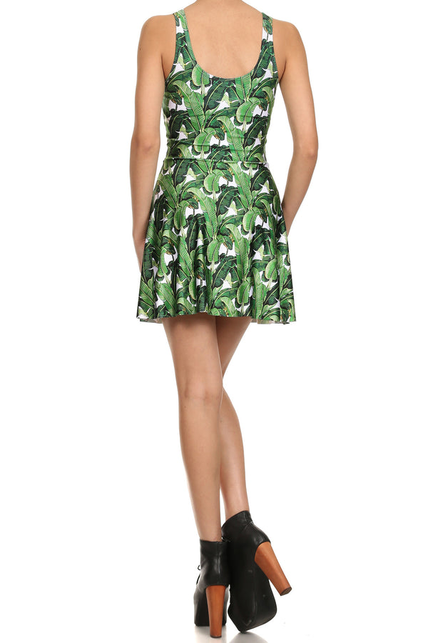 Banana Leaf Skater Dress - POPRAGEOUS  - 4