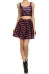 Nylon Sweet 16 Skater Skirt - POPRAGEOUS  - 1