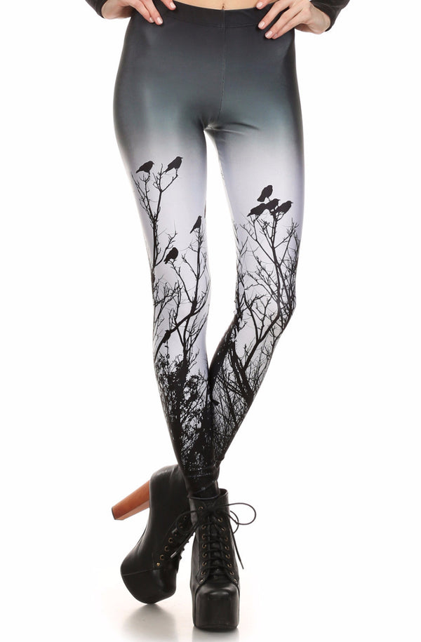 Creepy Crows Leggings - POPRAGEOUS  - 1