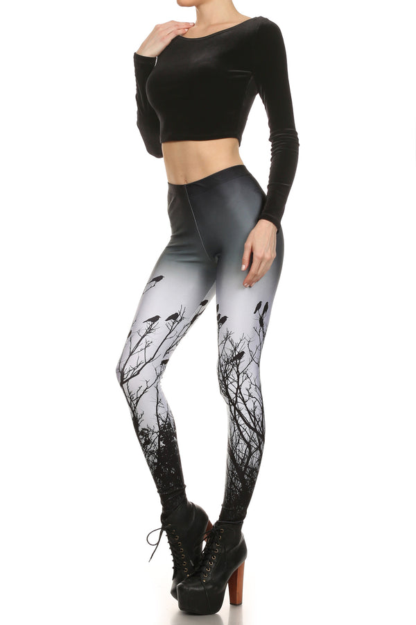 Creepy Crows Leggings - POPRAGEOUS  - 2