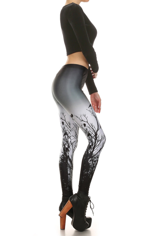 Creepy Crows Leggings - POPRAGEOUS  - 3