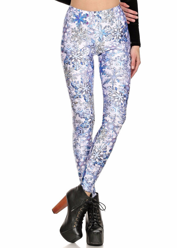 Snowflake Leggings - POPRAGEOUS  - 1