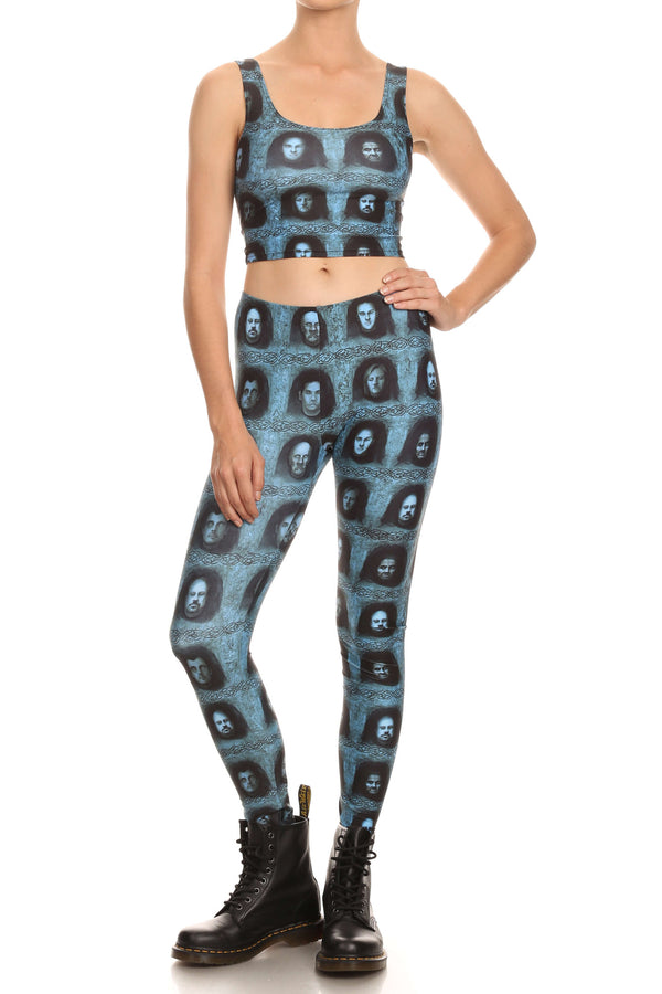 Mystery Faces Leggings - POPRAGEOUS  - 4