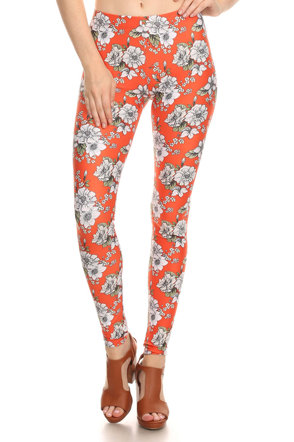 Orange Wallflower Leggings - POPRAGEOUS  - 1