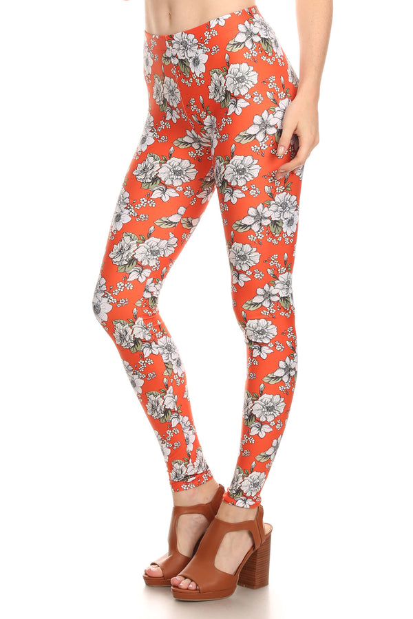 Orange Wallflower Leggings - POPRAGEOUS  - 2