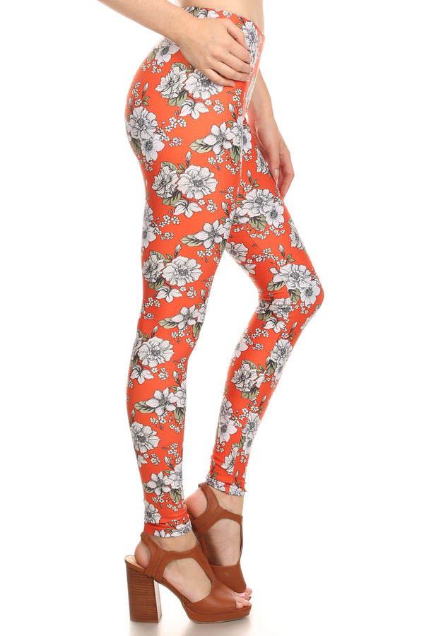 Orange Wallflower Leggings - POPRAGEOUS  - 3