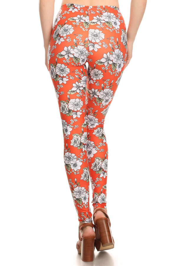 Orange Wallflower Leggings - POPRAGEOUS  - 4