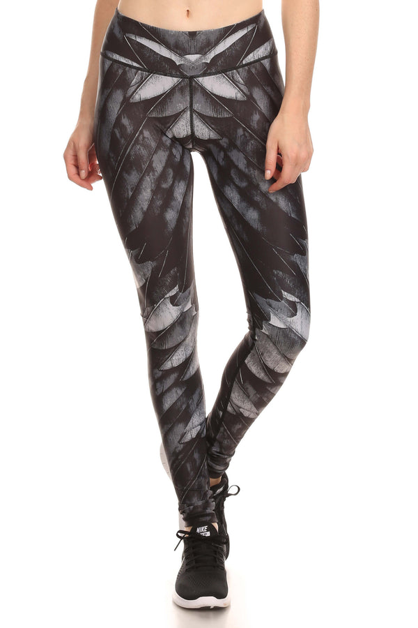 Black Feather Dream Leggings - POPRAGEOUS  - 1