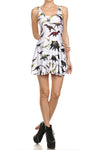 Dinosaur Skater Dress - White - POPRAGEOUS  - 1