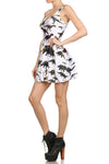 Dinosaur Skater Dress - White - POPRAGEOUS  - 2