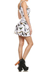 Dinosaur Skater Dress - White - POPRAGEOUS  - 3