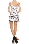 Dinosaur Skater Dress - White - POPRAGEOUS  - 4