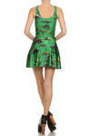 Dinosaur Skater Dress - Green - POPRAGEOUS  - 4